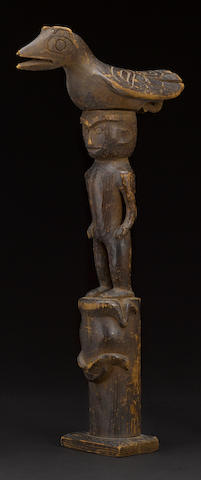 A Northwest Coast totemic carving