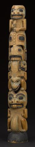 A Haida or Tlingit totem pole