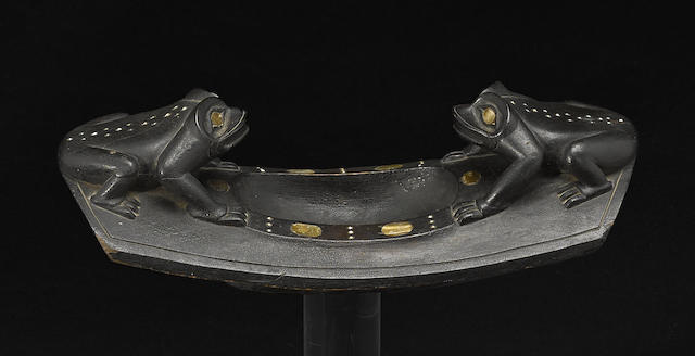 A Northwest Coast frog effigy bowl
