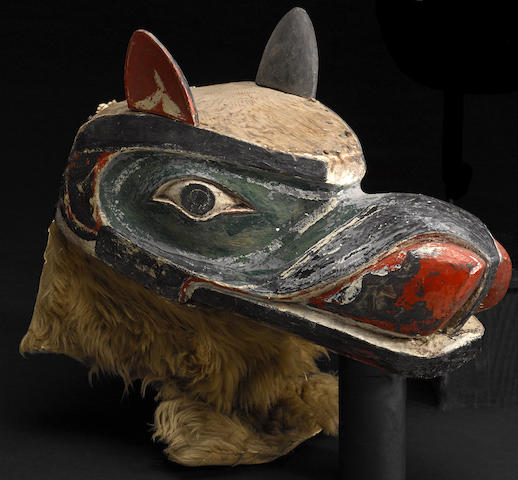 A Kwakiutl wolf mask