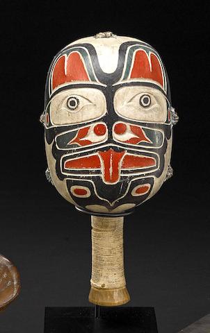 A Kwakiutl rattle