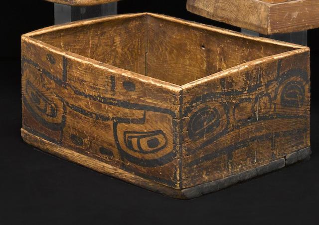 A Northwest Coast bentwood box