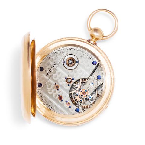Waltham. A fine 18K gold open face watch