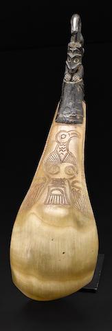 A Northwest Coast horn ladle