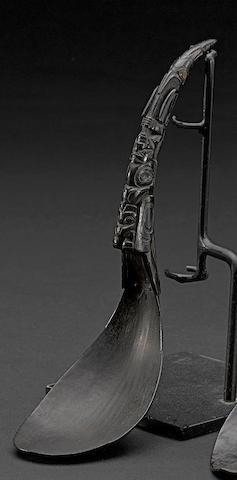 A Northwest Coast horn spoon
