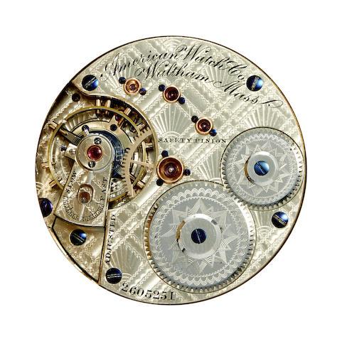 Waltham. A fine 14K gold hunter cased watch