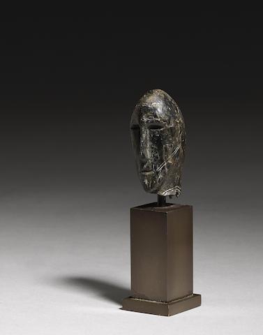An Okvik Eskimo marine ivory head