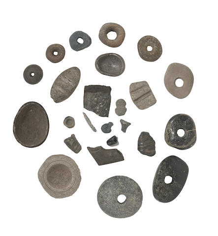 A collection of Chumash/Southern Californian stone artifacts