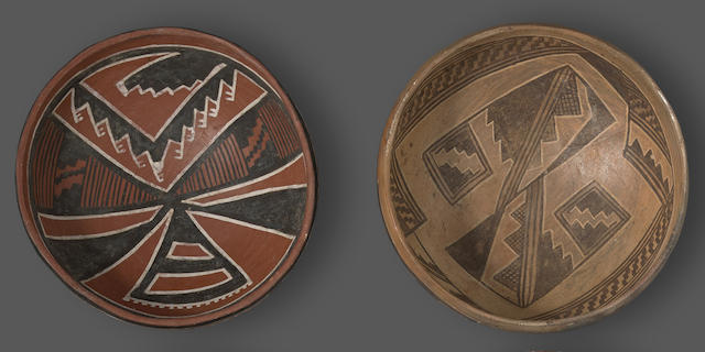 Two Anasazi polychrome bowls