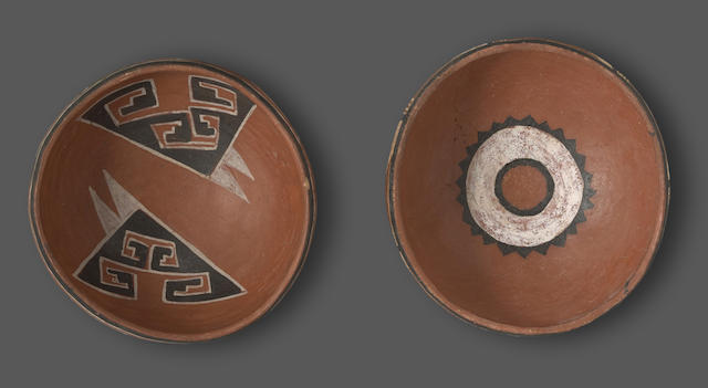 Two Four Mile polychrome bowls