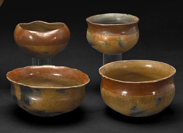 Four San Juan or Santa Clara bowls