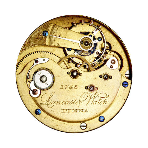 Lancaster Watch Co., Penna., A fine and rare 18K rose gold hunter cased watch