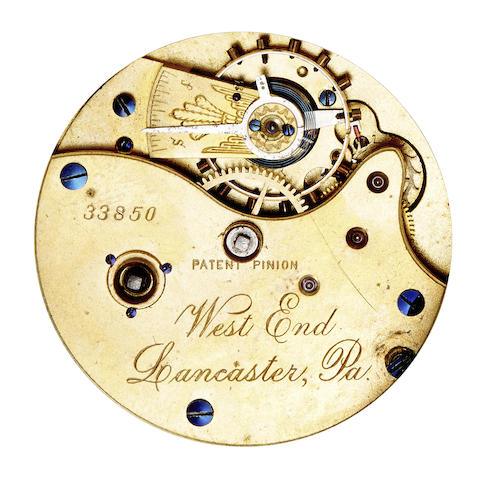 Lancaster Watch Co. Four open face and five hunter cased key wound watches