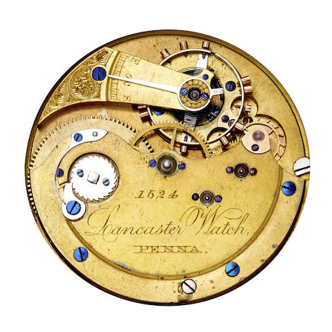 Lancaster Watch, Penna. Two hunter case watch movements