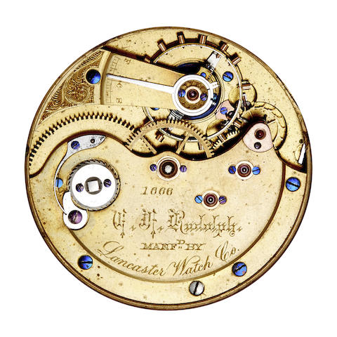 Lancaster Watch Co., A rare hunter cased watch