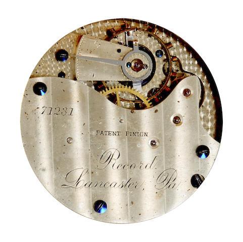 Lancaster Watch Co. A fine 18K rose gold hunter cased watch