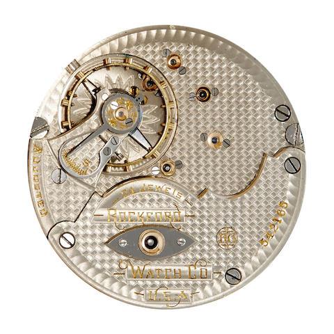 Rockford. A fine hunter cased railroad grade watch