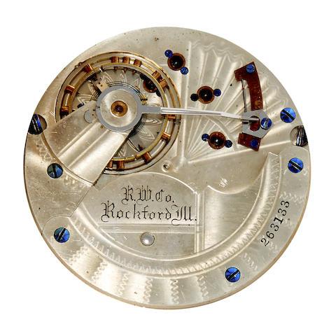 Rockford. A fine 14K gold box hinge hunter cased watch