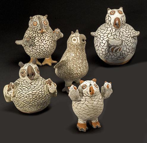 Five Zuni owls