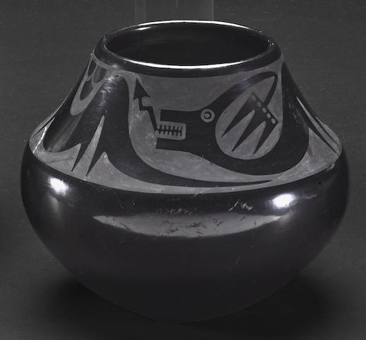 A San Ildefonso blackware jar