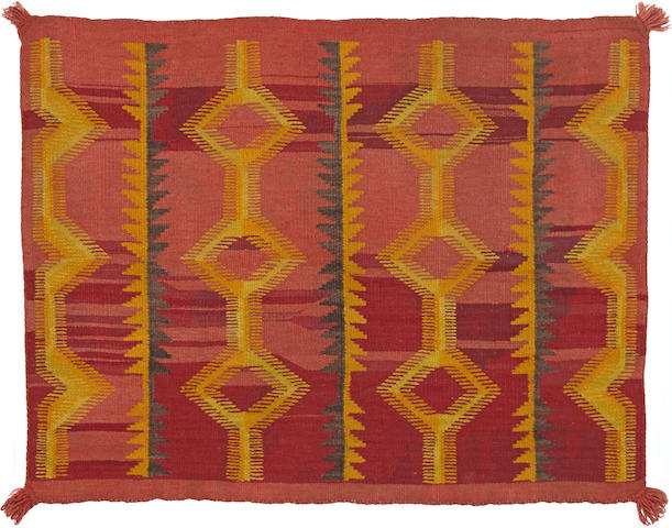 A Navajo late classic/early transitional saddle blanket