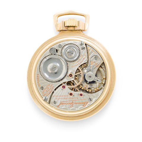 Illinois. A fine gold filled open face watch with Delong escapement