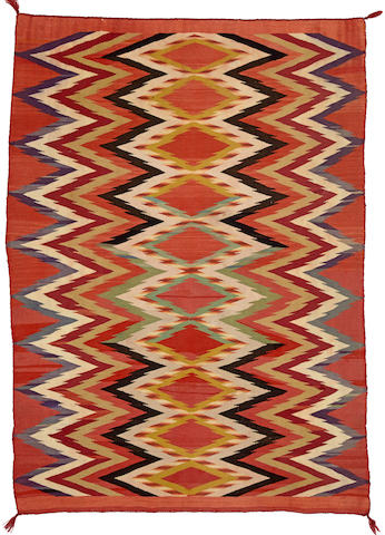 A Navajo early transitional child's blanket