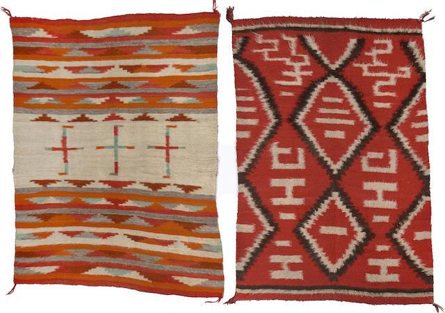 Two Navajo transitional weavings