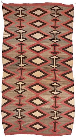 A large Navajo transitional rug