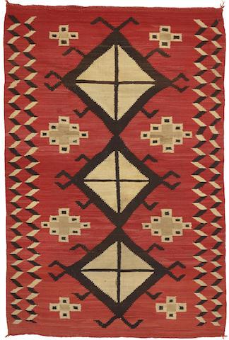 A Navajo transitional rug