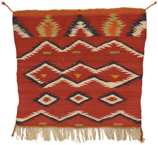 A Navajo transitional saddle blanket