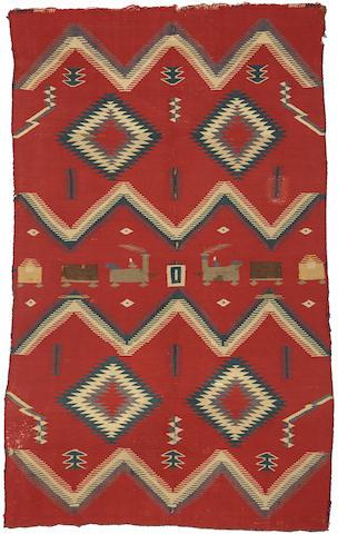 A Navajo Germantown pictorial rug