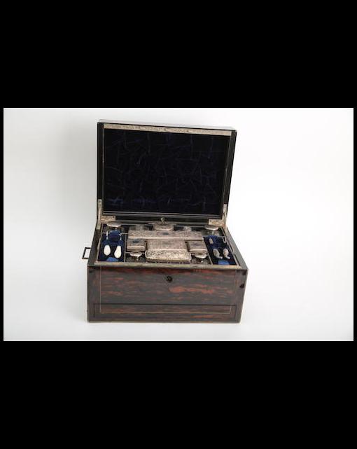 A Victorian coromandel dressing set