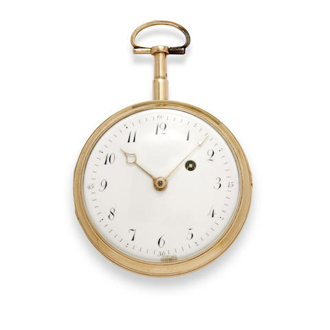 A gold open face quarter repeating verge watch