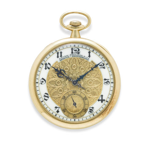 A fine 18K gold dress watch with special dial