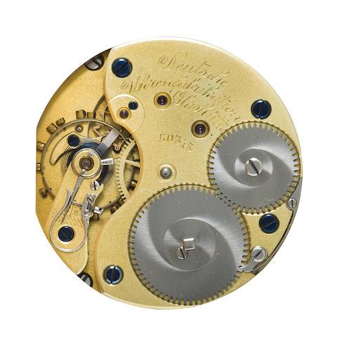 A. Lange & Söhne. A 14K rose gold hunter cased lever watch