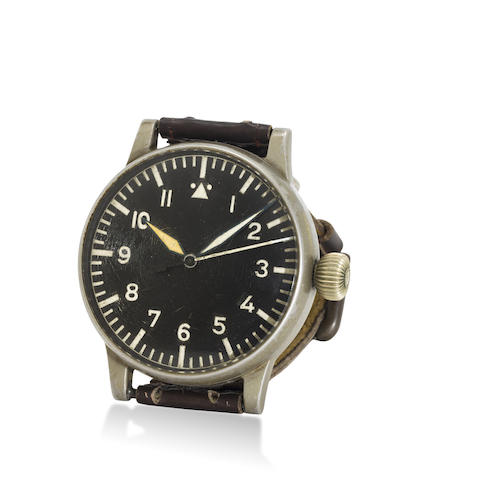 A. Lange & Söhne. A large military pilot's watch with center seconds