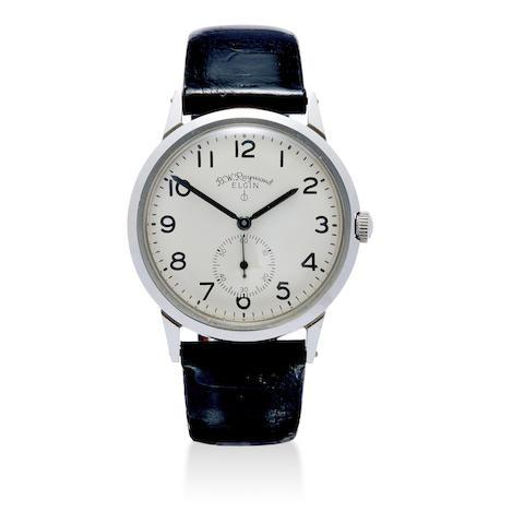 Elgin. A railroad grade stainless steel wristwatch