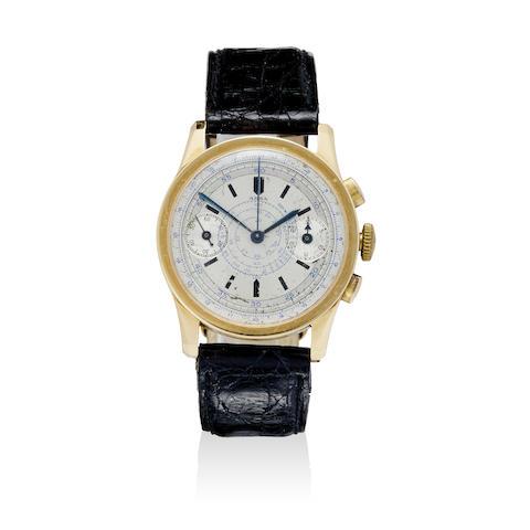 An 18K gold chronograph wristwatch