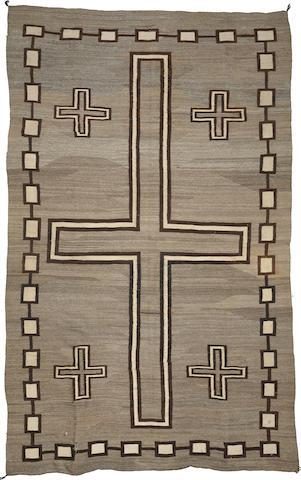 A large Navajo rug
