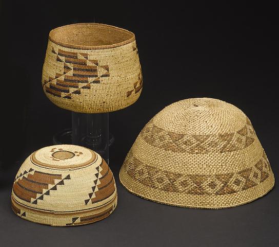 Three Western baskets