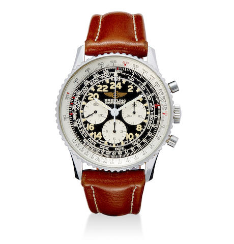 A stainless steel tachymeter chronograph with 24-hour dial