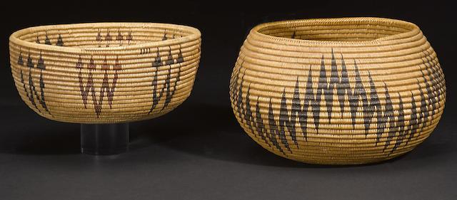 Two Washo baskets