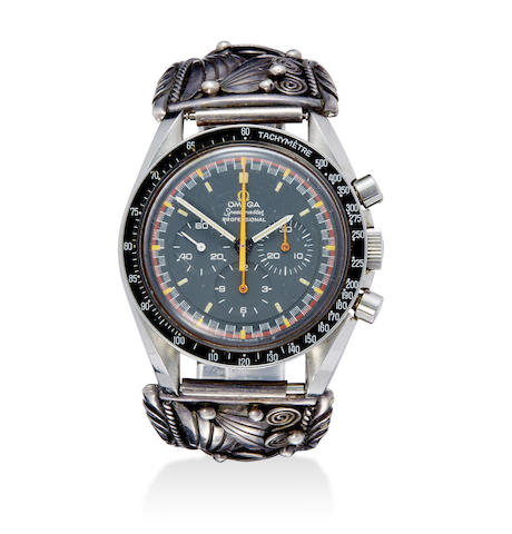 A rare stainless steel tachymeter chronograph