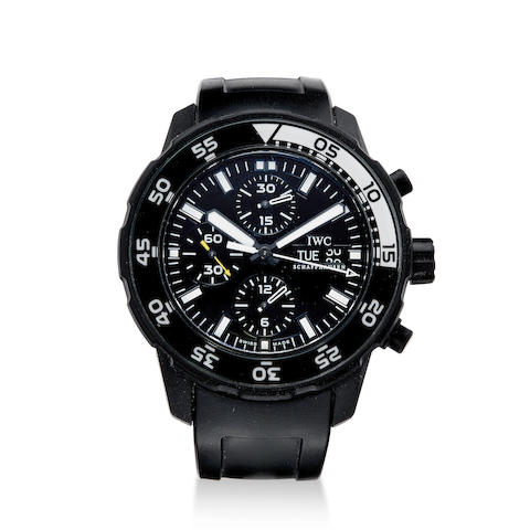A fine limited edition automatic diver's chronograph wrist watch with box and papers
