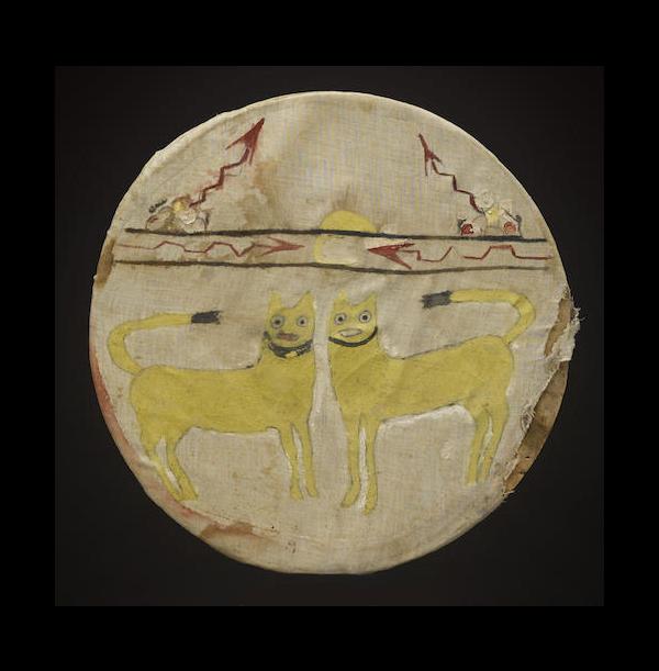 A Pueblo dance shield