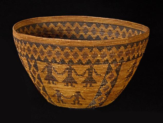 A Yokuts polychrome basket