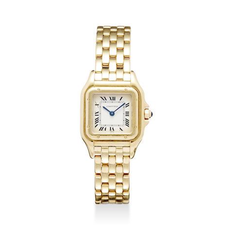 Cartier. A fine 18K gold lady's bracelet watch