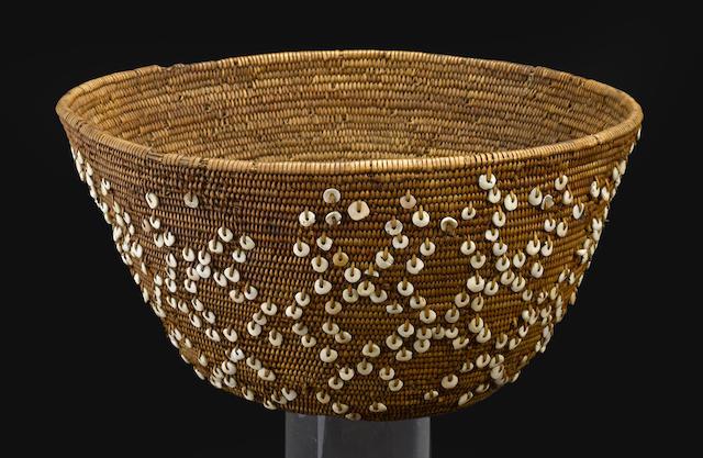 A Costanoan beaded basket