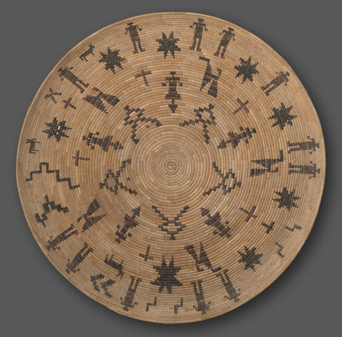 A Yokuts polychrome gambling tray